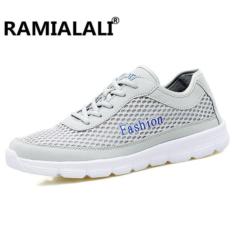 Ramialali Unisex Summer Breathable Mesh Men Shoes Lightweight Men Sneaker Male Shoes Men Sport Sneakers Big Size 36-48