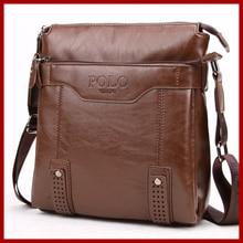 POLO Vintage Unique Hollow Bottom Leather Man Bag With Rivet Soft Brand Men Leather Messenger Bag Fashion Shoulder Bags