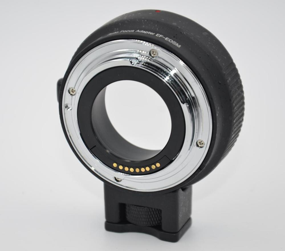 EF-EOSM Lens Mount Adapter Ring Auto-Exposure Auto-Focus and Auto-Aperture for Canon EF/EF-S Series Lens to EOS Camera new professional quick release fast lens changing double head lens holder flipper for canon eos ef ef s camera lens