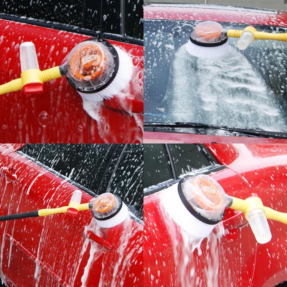 Brosse de lavage de voiture avec longue poignée interrupteur débit d'eau bouteille de mousse brosse de nettoyage de voiture