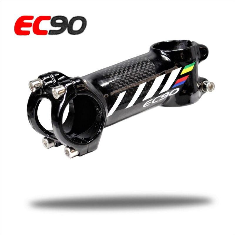 2017new EC90 aluminium + fiber de carbone riser/tige Tige sans Échelle Vélo en fiber de carbone ultra-léger Tige poignée de carbone 28.6-31.8 MM