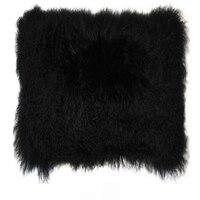 2016 Real Black Mongolian Fur Cushion Cover Pillow Covers Vintage Decorative Cushion Covers For Sofa Tibetan Pillowcase Chair