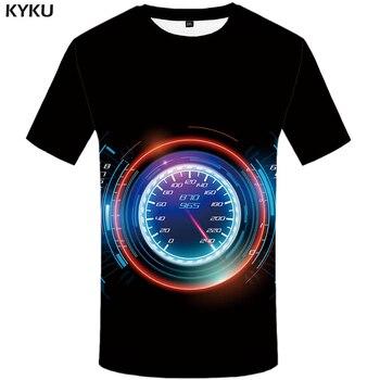 KYKU Brand Car T Shirt Motorcycle T-shirt Men Dash Board Shirts Black 3d Mens Clothing China Printed Tee Tops 2017
