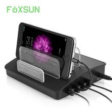 4 Порты зарядка через usb станция с Bluetooth Динамик charging Dock Организатор для нескольких устройств iPhone, iPad Galaxy Android
