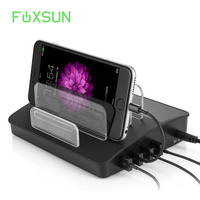 4 Ports USB Charging Station with Bluetooth Speaker Charging Dock Organizer for Multiple Devices,iPhone iPad Galaxy Android