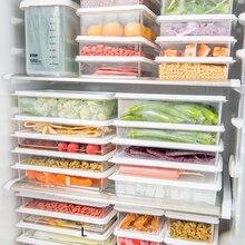 Home Plastic Transparent Food Fruit Crisper Storage Box Refrigerator Kitchen With Lid Sealed