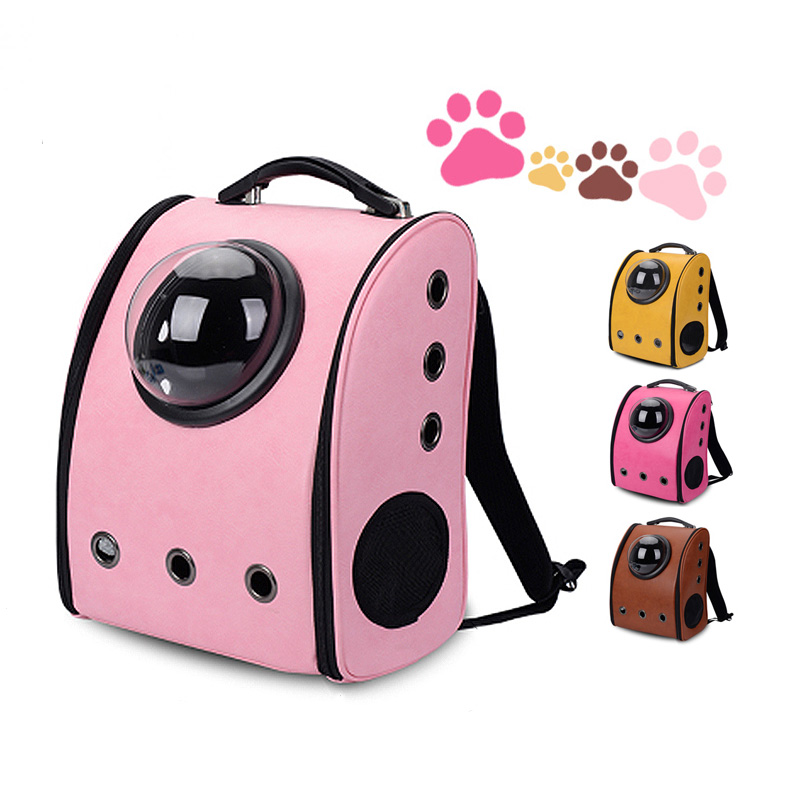 Fashion Travel Accessory Feather Space Capsule Transport Dog Bag For Small Puppy Chihuahua Pet Cat Carrier Backpack Crate Cage