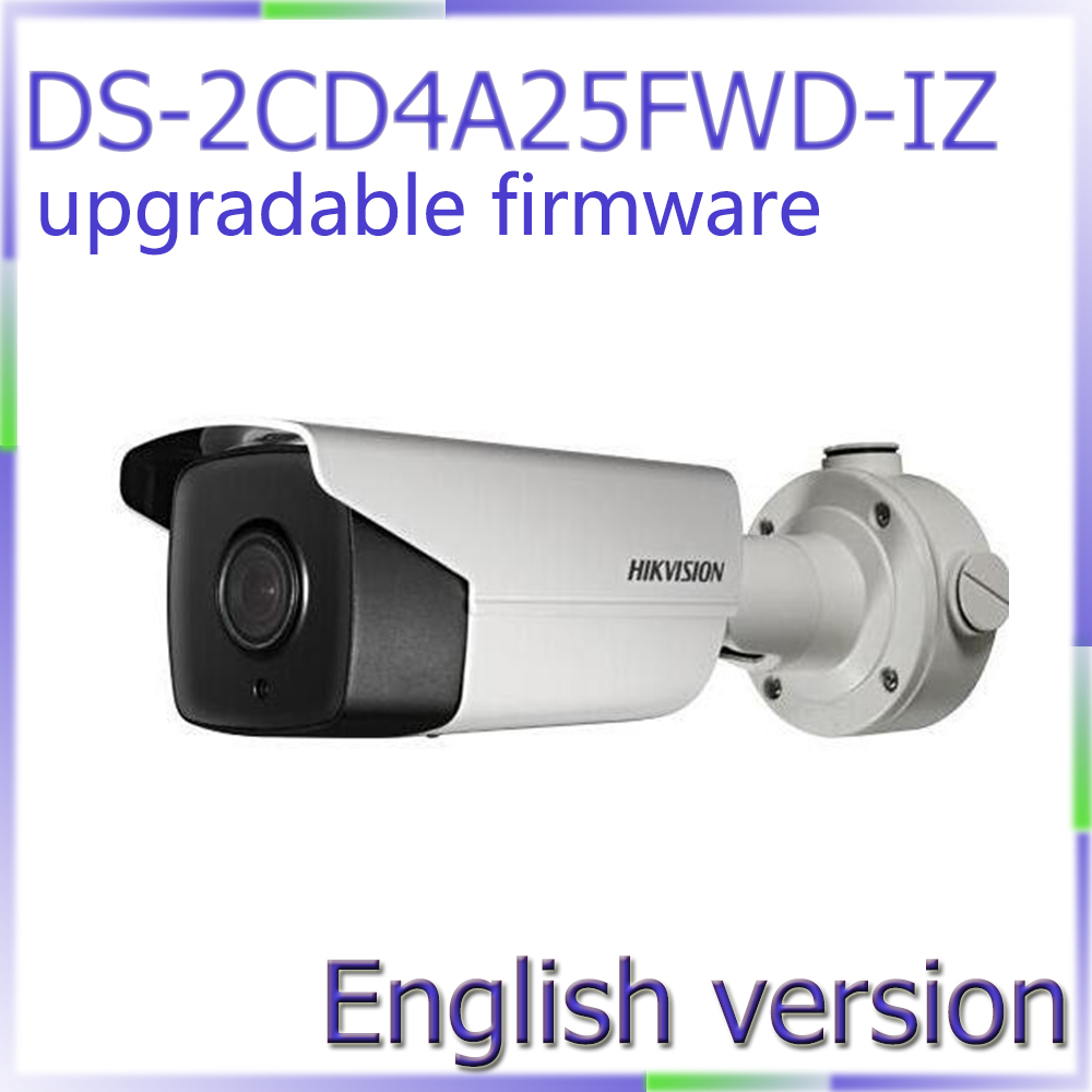 Free shipping English Version DS-2CD4A25FWD-IZ 2MP Smart IP Outdoor Bullet Camera High light environment free shipping english version ds 2cd4a65f iz 6mp smart ip outdoor bullet network camera support 64g on board storage