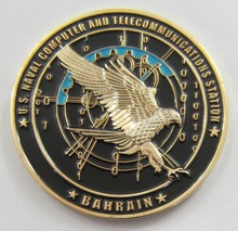 High quality die casting plating eagle logo3D coin new military challenge