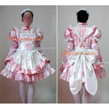 Free Shipping Sexy Sissy Maid Pvc Lockable Dress Uniform Cosplay Costume Tailor-made