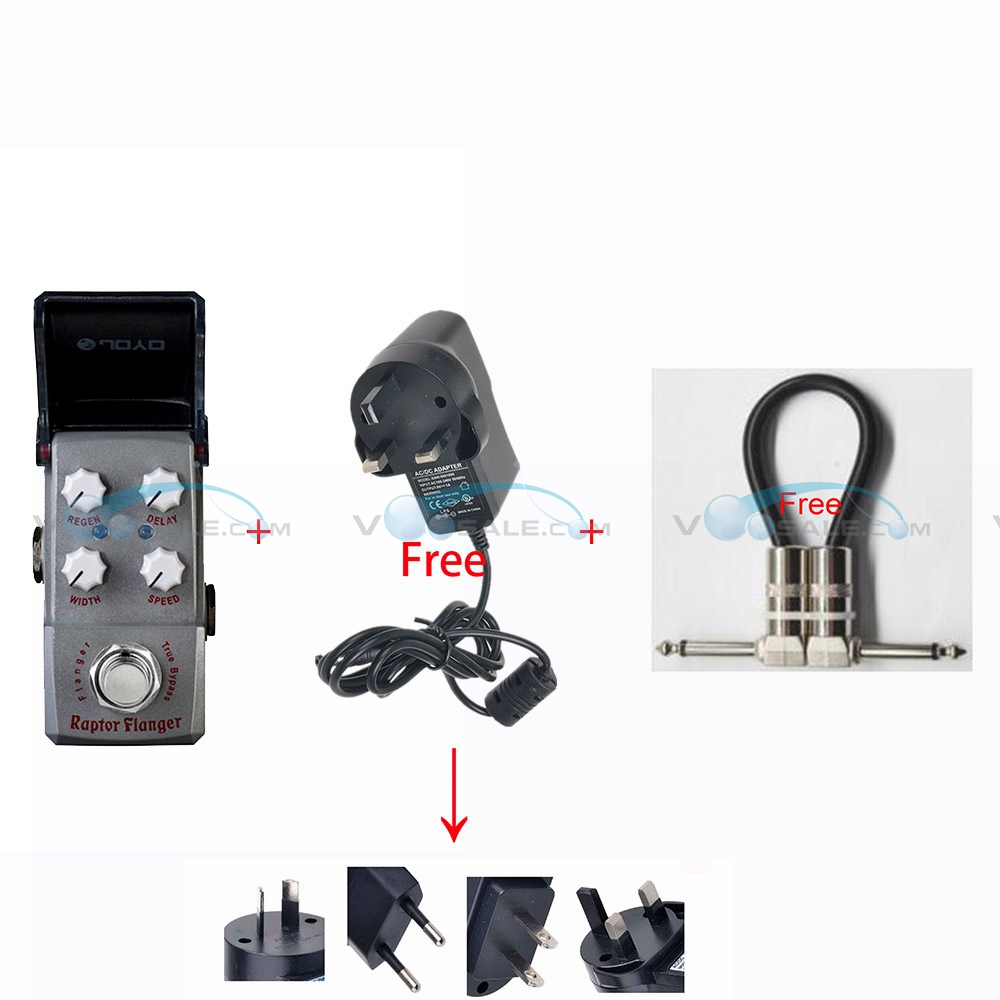 JOYO JF-327 Raptor Flanger Mini Effect Guitar Pedal True Bypass Guitar Accessories  PartsMini Design+Free a Adapter and CableJOYO JF-327 Raptor Flanger Mini Effect Guitar Pedal True Bypass Guitar Accessories  PartsMini Design+Free a Adapter and Cable