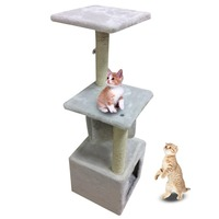 Germany Domestic Delivery 90 Cm Large Cat High Toy Cat House Tree Pet Furniture Scratched Wooden