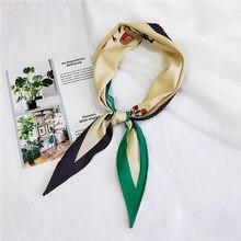 New Elegant Women Square Scarf Head Neck Bufanda Mujer Hair Tie Band Headband Fashion Flower Bandana Accessories