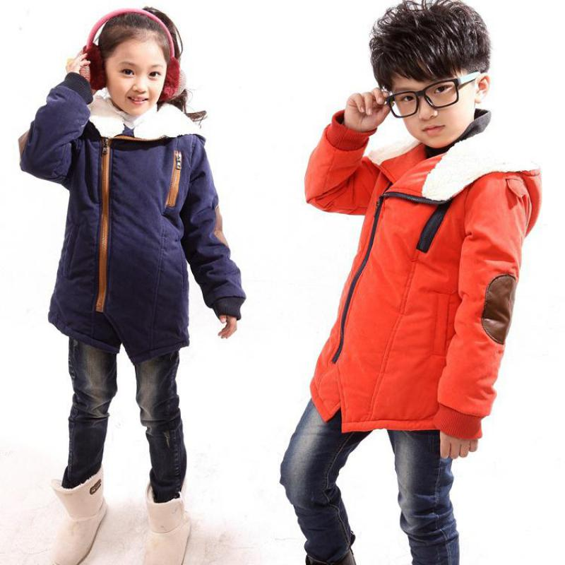 Thick Fleeced Boys Cotton Padded Coats Jackets Warm Hooded Girls Coat Winter Style Boy Parka Zipper 2017 Brand New High Quality casual 2016 winter jacket for boys warm jackets coats outerwears thick hooded down cotton jackets for children boy winter parkas