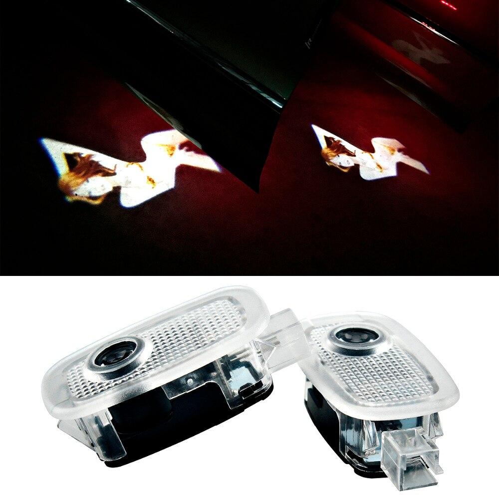 YANF 1 Pc Estilo Do Carro Bem-vindo Luz LED Porta Luz de Cortesia Logo Laser Santo Sombra Da Lamp Do Projetor Para For Mercedes