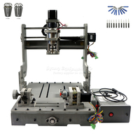Diy mini cnc máquina de corte 3040 300 w eixo com cortador livre e pinça