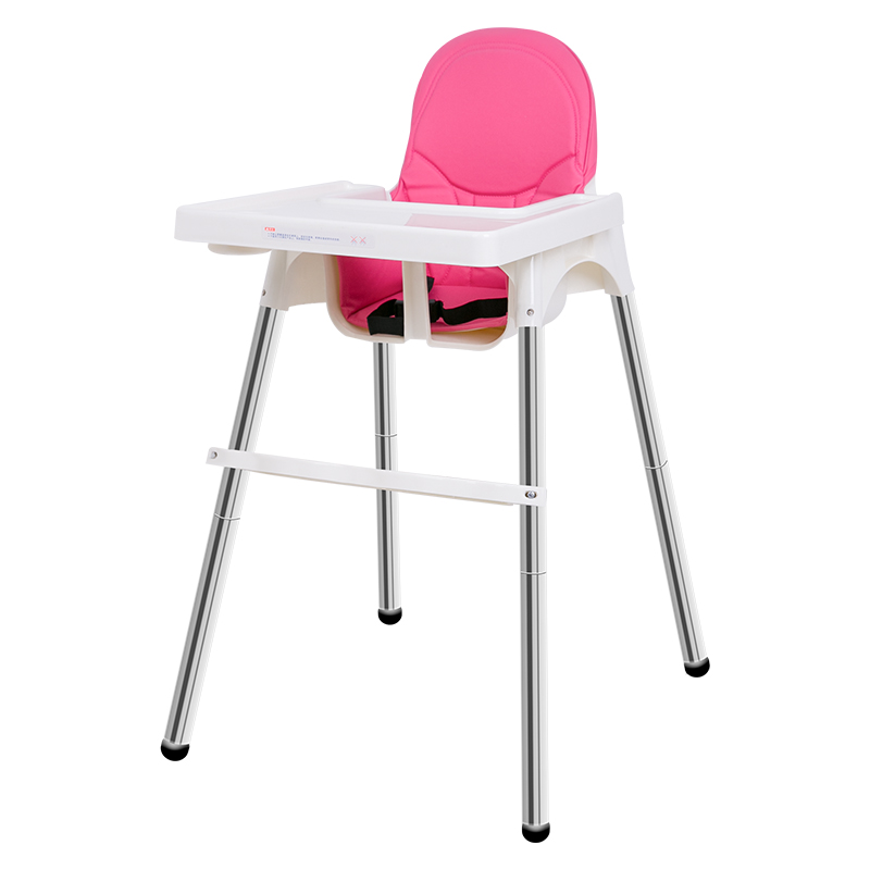Pu Leather High Chairs Babies Adjustable Baby High Chair Portable