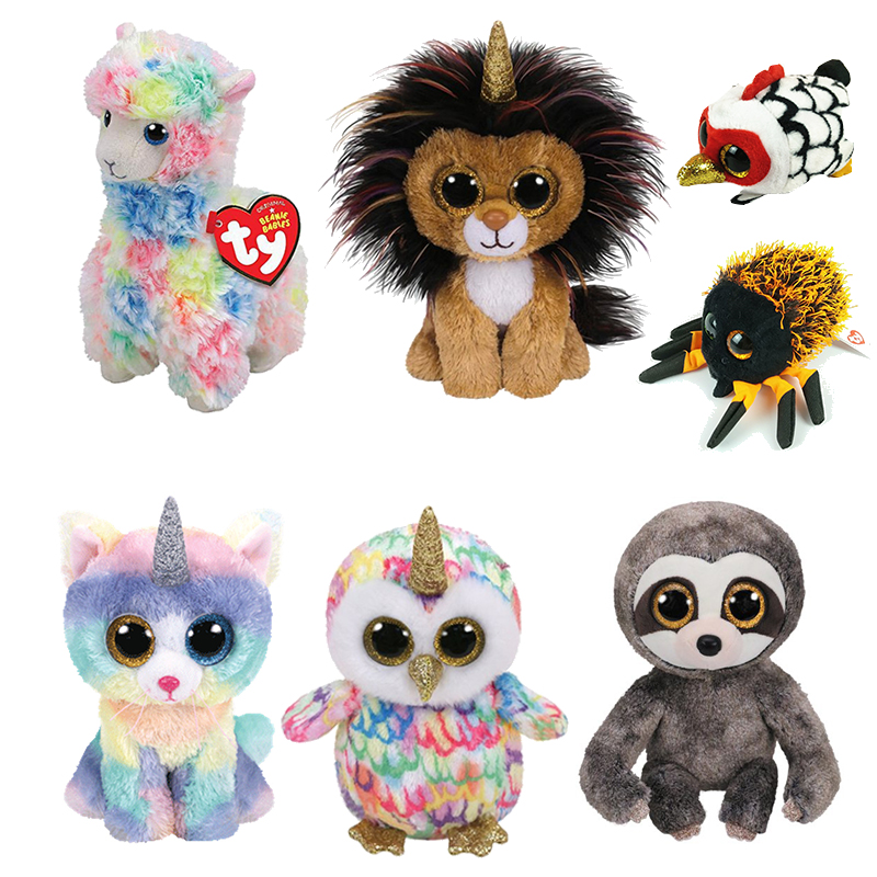 4b7369e36a2 Ty Beanie Boos 15CM multicolored llama Owl Unicorn Cat Dog Plush Baby Plush  Stuffed Doll Toy