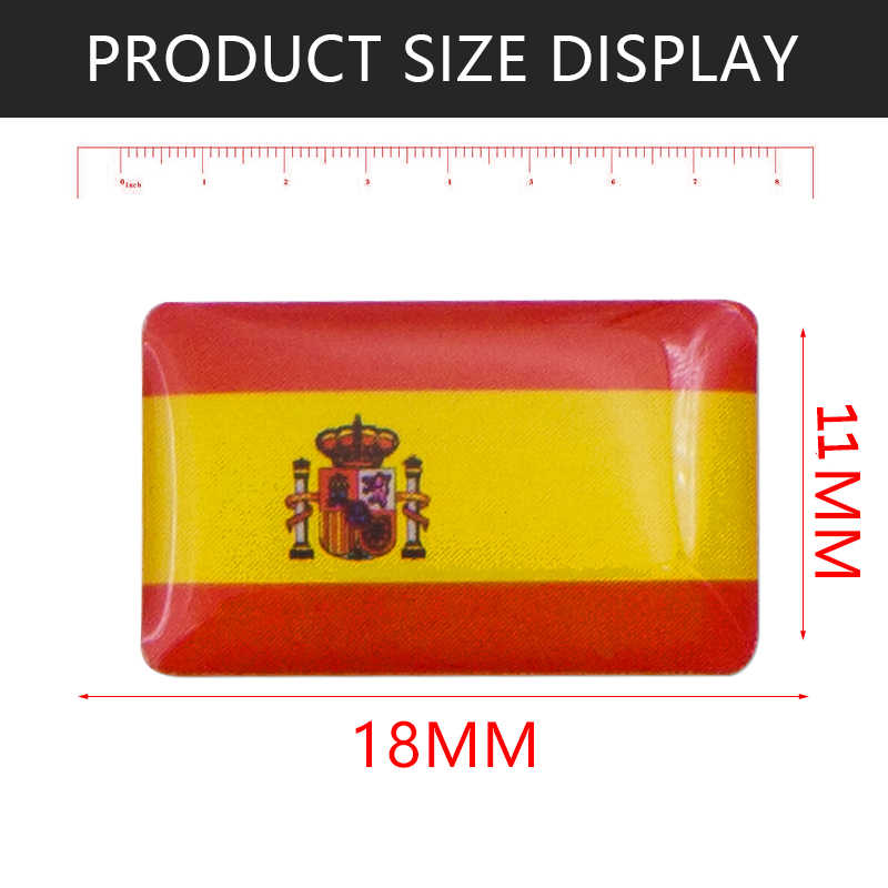 Mobil Styling Spanyol Bendera Lencana Stiker untuk Skoda Audi BMW Kursi Peugeot Renault Opel Toyota Honda Mazda Alfa Lada Kia aksesoris