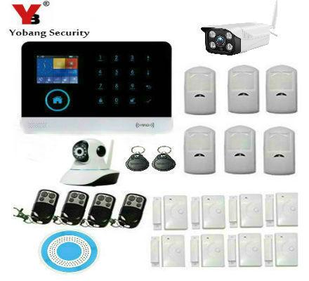 Sicherheitsalarm Yobang Sicherheit Wifi Gprs 2,4 Zoll Tft Lcd Tastatur Drahtlose Innen Sirene Android Ios App Control Alarm System Ip Im Freien Camcera Exquisite Handwerkskunst;