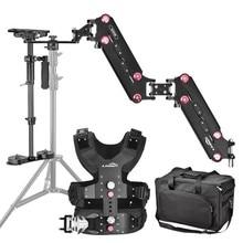 LAING 1-8KG Carbon Fiber Steadicam Stabilizer with Vest Arms Sled for DSLR Camera & Camcorder