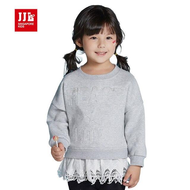 Детские девушки футболка девушки капюшоном дети зимние топы, топы детские теплая зима детская одежда малышей одежда принцесса