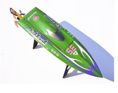 H625 PNP Spike Fiber Glass Electric Racing Speed Boat Deep Vee RC Boat W/3350KV Brushless Motor/90A ESC/Servo Green h625 rtr spike fiber glass electric racing speed boat deep vee rc boat w 3350kv brushless motor 90a esc remote control yellow