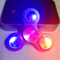 Led Light EDC Hand Spinner Fidget Aluminum Alloy For Autism And ADHD Anxiety Stress Relief Focus