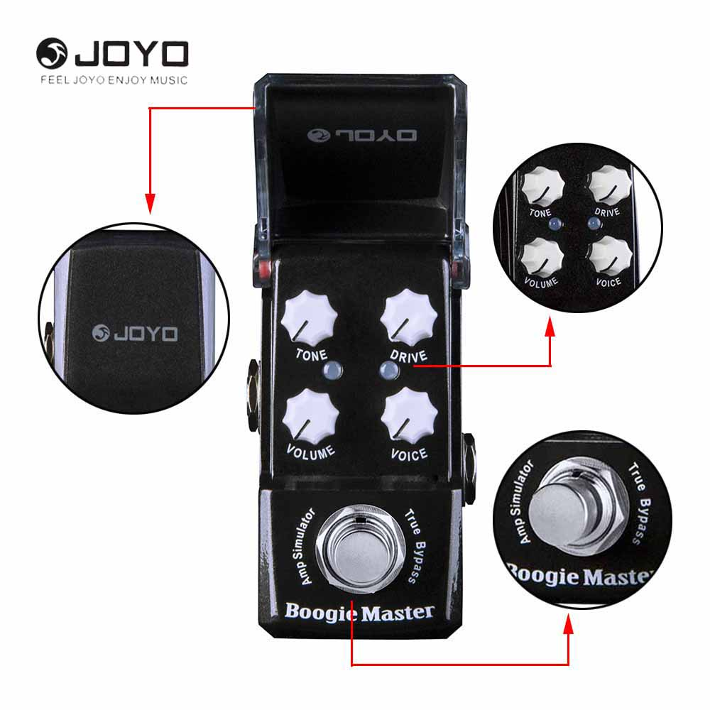 JOYO JF-309 Ironman Series Boogie Master Amp Simulator Modern Rock and Metal Sounds Mini Effect Pedal joyo ironman boogie master amp simulator electric guitar effect pedal true bypass jf 309 with free 3m cable