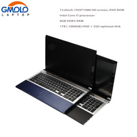 15 6 In Tel Core I7 8GB 1TB HDD Game Laptop SSD Slot Camera WIFI Windows