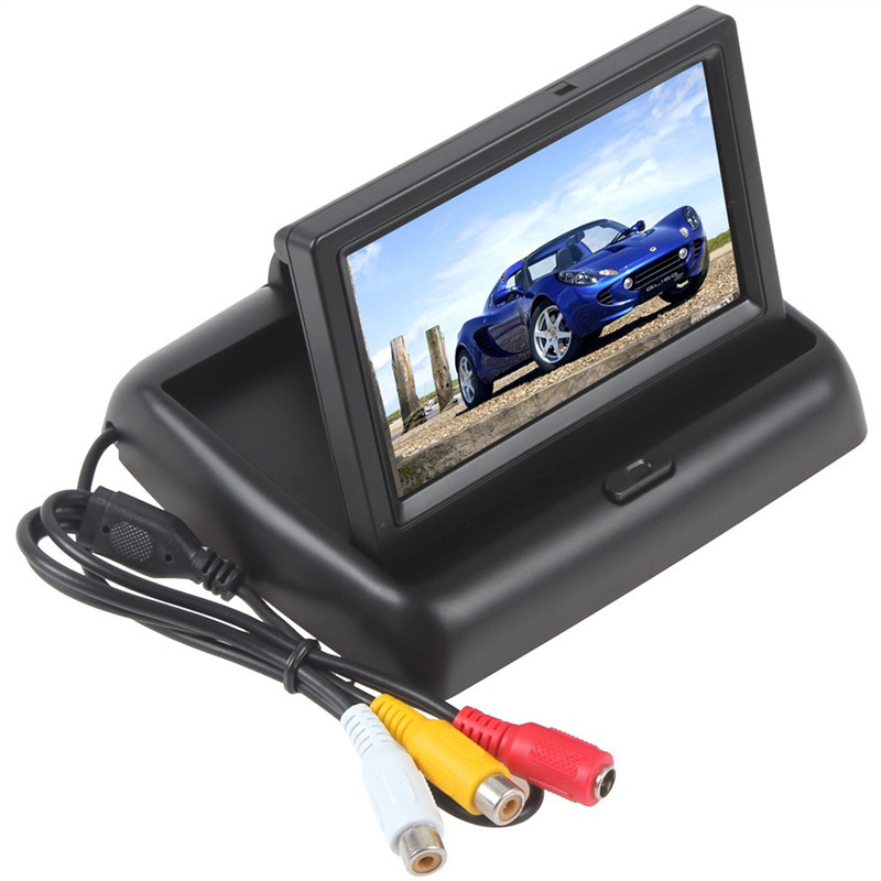 Car Headrest Monitor 4.3 Inch Tft Lcd Screen Car Monitor Car Rearview Reverse Parking Monitor With 2-channel Video Input Camera