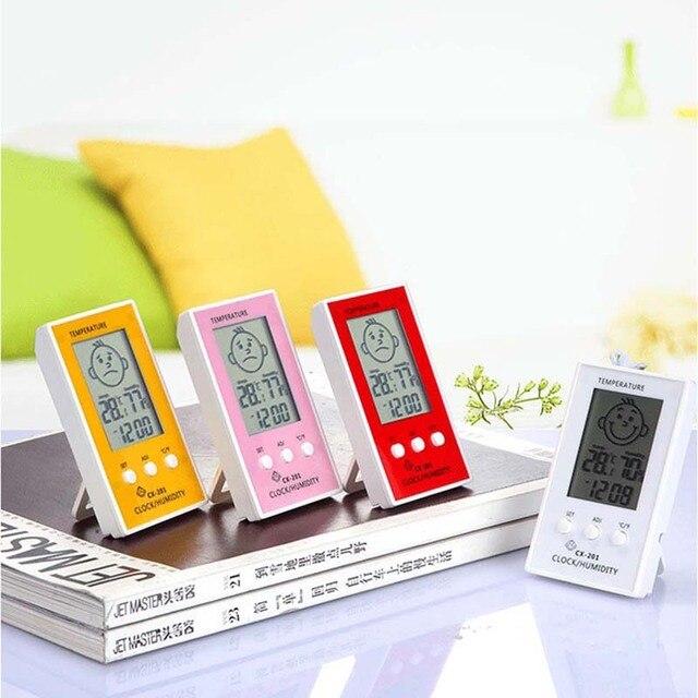 4 di colore Portatile Digitale Chiuso All'aperto Hangable Termometro Preciso Da
