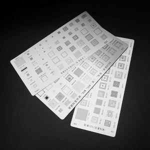 Image 2 - High Quality 3pcs universal BGA Stencils for MTK Samsung HTC Huawei Android Directly Heated BGA Reballing Stencils Kit