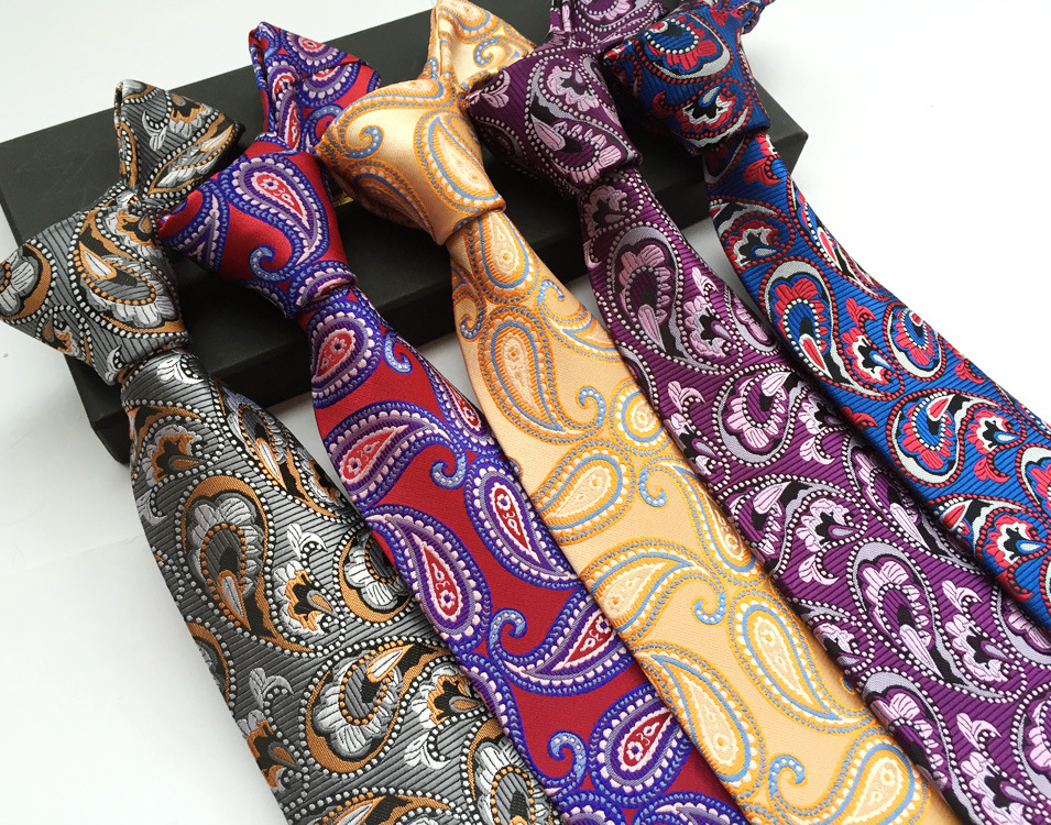 Mens Ties Neck Ties 8cm Paisley Ties for Men Formal Wear Business Suit Wedding Party Gravatas