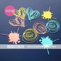 DIY Scrapbook Album Clip Creative Love Diary PDA Cutting Paper Stock TT 5006
