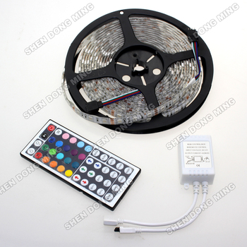 Waterproof IP65 RGB 5050 60LEDs/m 5M 300 LEDs Flexible SMD LED Strip & 44 key IR Remote Controller 12V DC