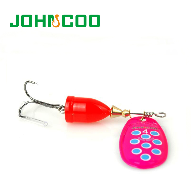 JOHNCOO New Spinner Bait Metal Lake Lure 6pcs Fishing Lure 5g/8g/10g/13g Mixed Weight/Color Artificial Fish Bass Fishing Tackle