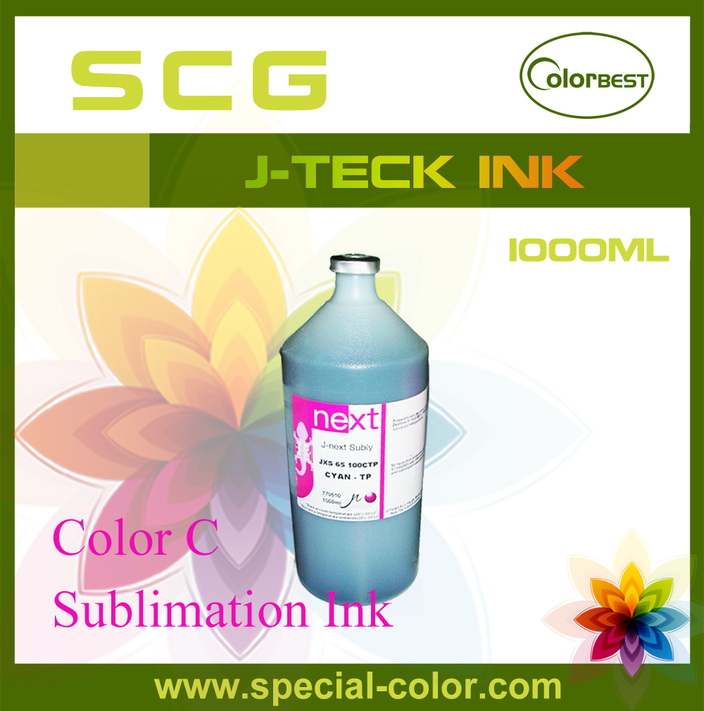J-next Subly JXS-65 Dye Sublimation Ink Fabric Ink 1000ml Color Cyan for Roland/Mimaki/Mutoh/Epson
