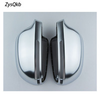 New Side Wing Mirror Covers Caps FOR Audi A4 B8 A6 C6 A5 8T Q3 A3 8P Aluminum Silver Matt chrome Replacement