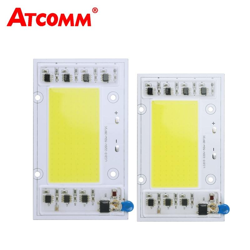 все цены на  Cob LED Chip Lamp Smart IC 30W 50W 100W 150W 220V High Power LED Matrix Diode Array For Spotlights Searchlight Street Floodlight  онлайн