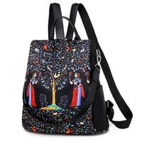 Fashion Anti theft Women Backpacks embroidery bohemian Ladies Large Capacity Backpack Waterproof Oxford Women Backpacks