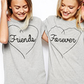Best Friends T shirt Women Summer 2016 Best Friend Graphic Tees Women Printed Short Sleeve Punk Rock T-shirts Y0419-29D1