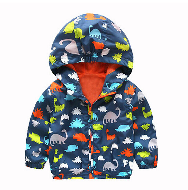 Christmas 2016 Spring Autumn Children Outerwear Waterproof Windproof Hooded Rain Coat Kid Boys Fashion Brand Jackets Coats