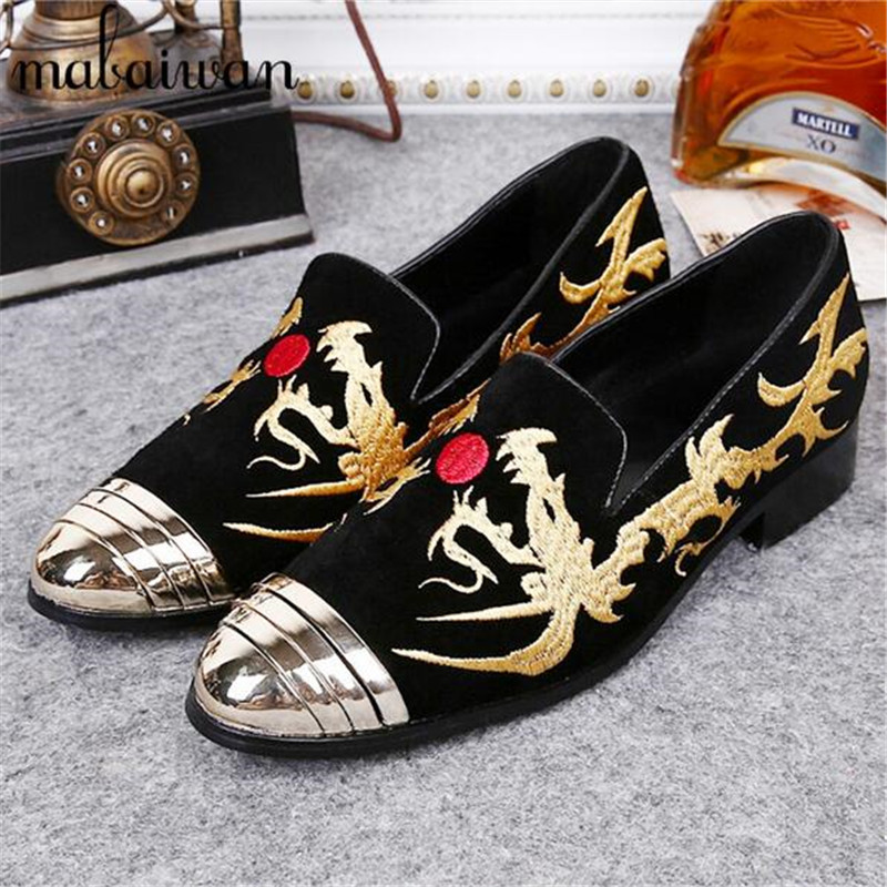 Fashion Customized Men Flat Shoes Dragon Embroidery Mens Casual Shoes Loafers Dress Shoes Mocassin Flats Boat Shoes Footwear full rivets studded espadrilles men black casual flat shoes loafers wedding dress shoes mocassin homme flats sapatos masculino