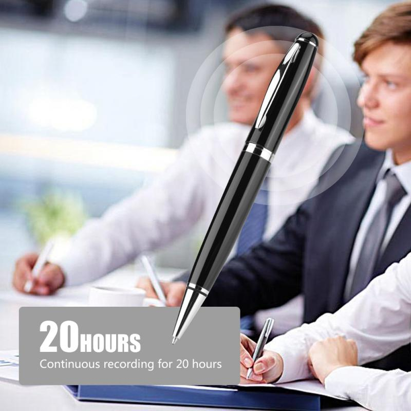 VBESTLIFE 8G Digital Voice Recorder Noise Reduction 2 in 1 Stereo Audio Recording Pen Portable Mini U Disk for Business Meeting