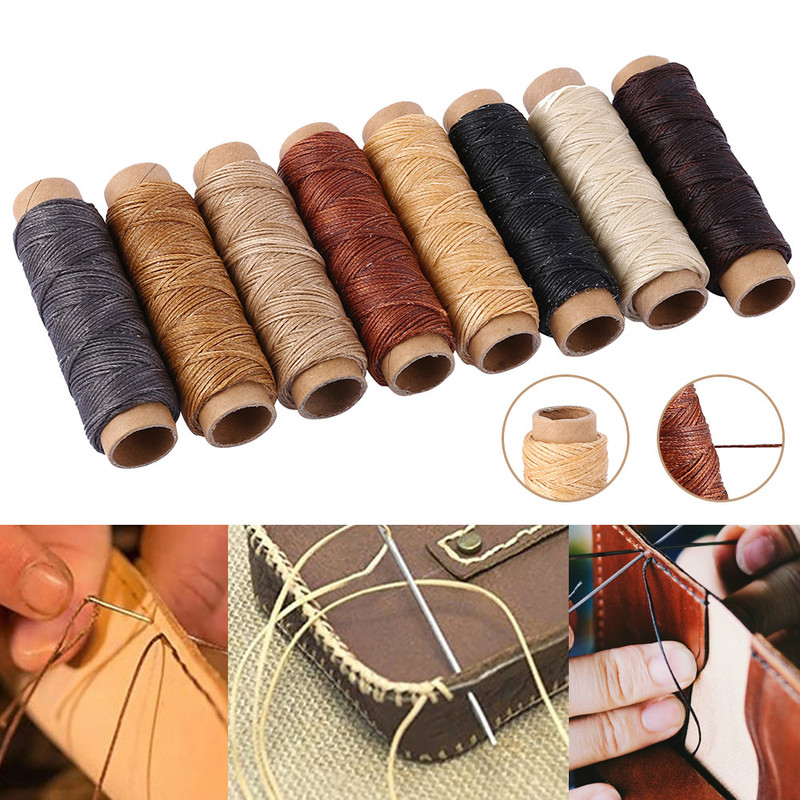 8 Roll 30m Long Waxed Thread Cord for Luggage Wallet Shoes Tents Carpets Saddles Canvas Coats Leather Repair DIY Sewing Line