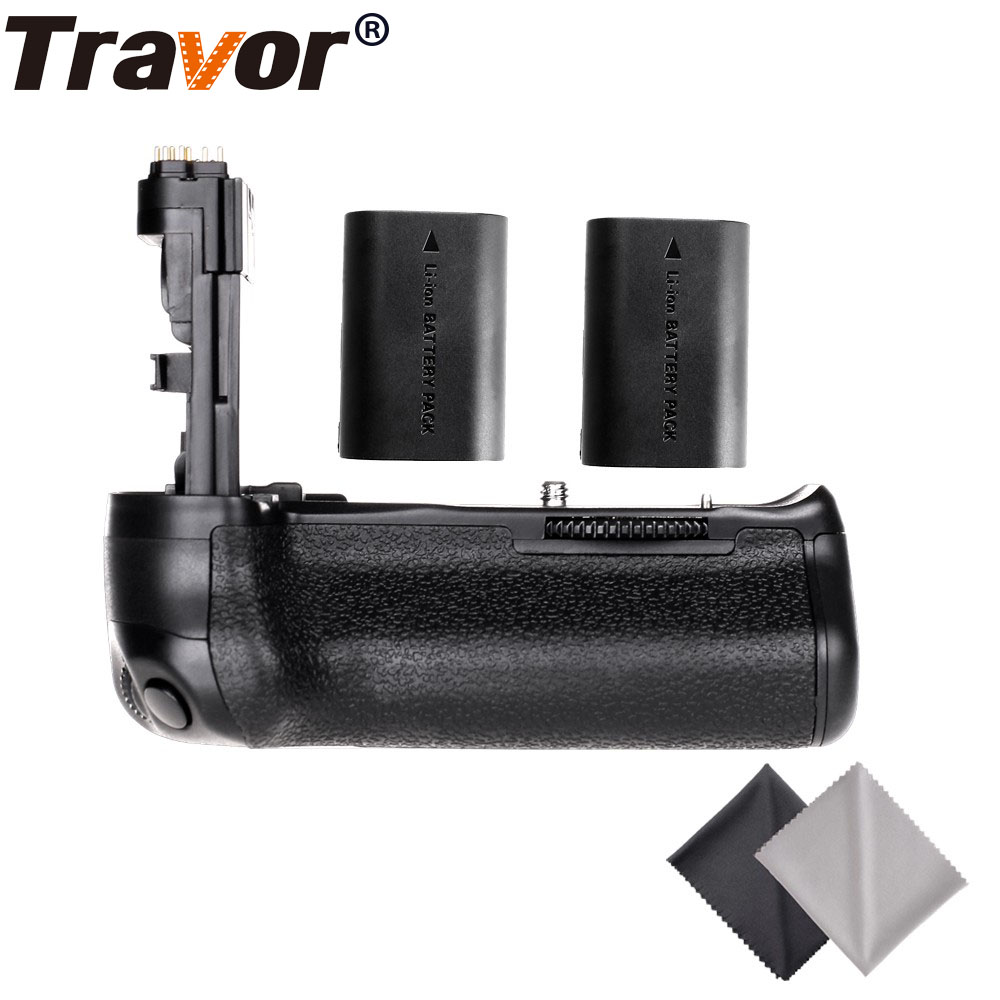 Travor Professional Multi Power Battery Grip for CANON EOS 60D 60Da DSLR Camera as BG-E9+2pcs LP-E6 battery+2pcs Lens Cloth camera battery grip pixel bg e20 for canon eos 5d mark iv dslr cameras batteries e20 lp e6 lp e6n replacement for canon bg e20