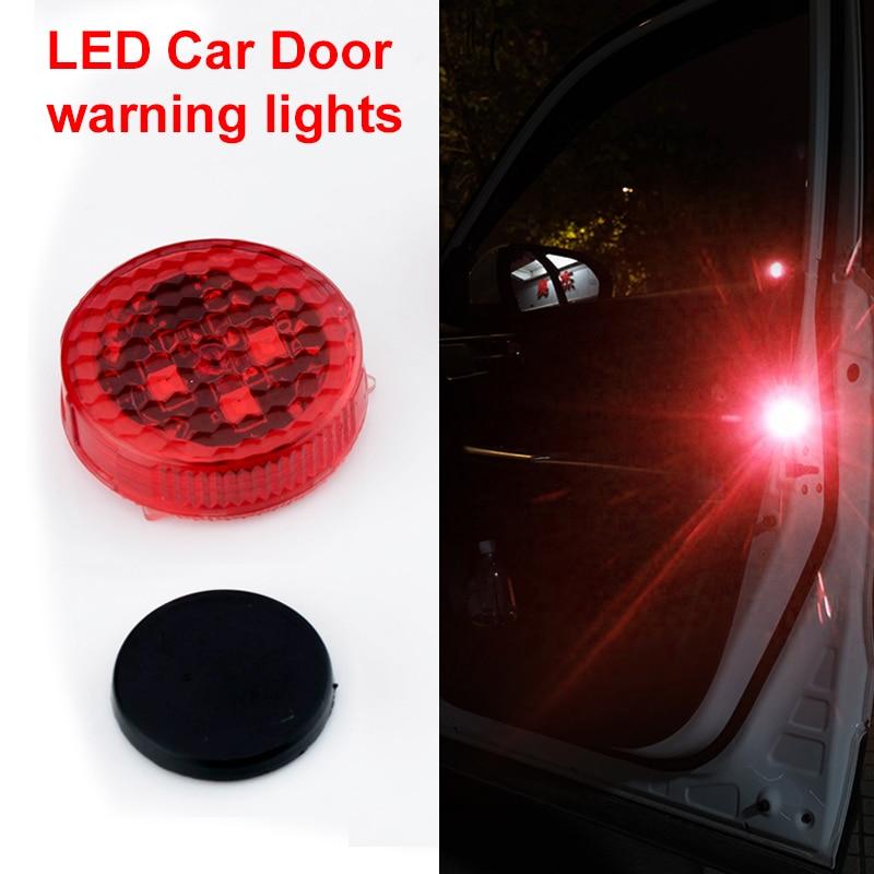 OKEEN car-styling 4x wireless Red Car LED door open signal warning light decorative indicator avoid crash strobo flash light