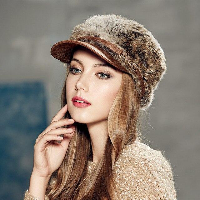 Kenmont Зима Осень Женщины Леди Девушка Мода Открытый Искусственный Мех Козырек Шляпа Военной Фуражке 2381