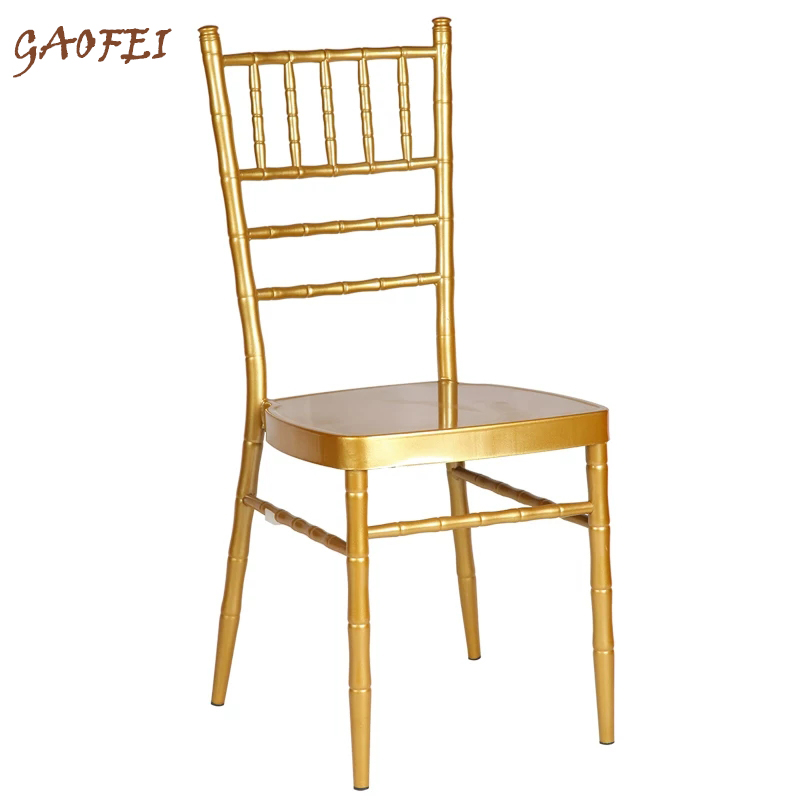 Aluminum Chiavari Chair Funitue Wedding Chair Banquet Chair For Wedding Moment Hotel Party Or Gathering Without Cushion(China)